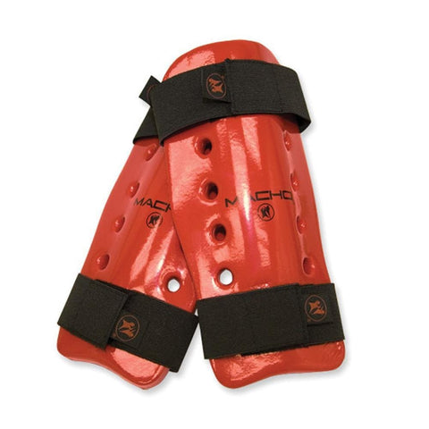 Macho Dyna Shin Guard Red