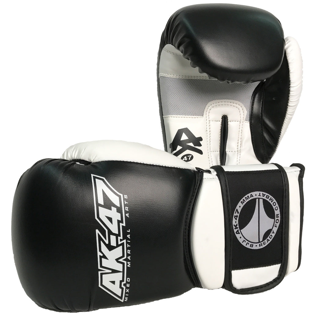 Matrix Boxing Gloves Leather Black & White