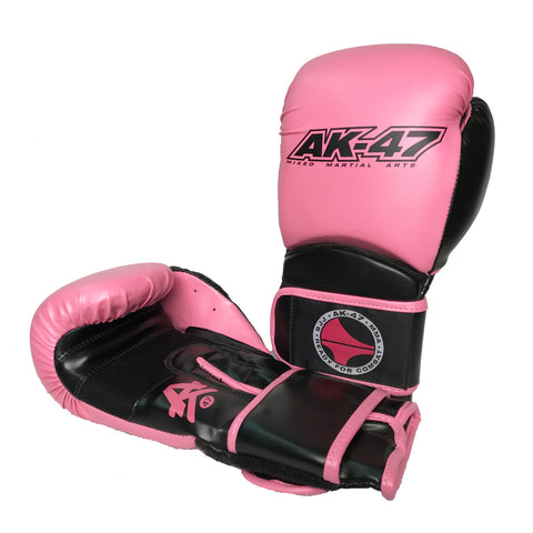 Matrix Boxing Gloves Vinyl Black & Pink