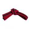 Red Belt with Black Stripe