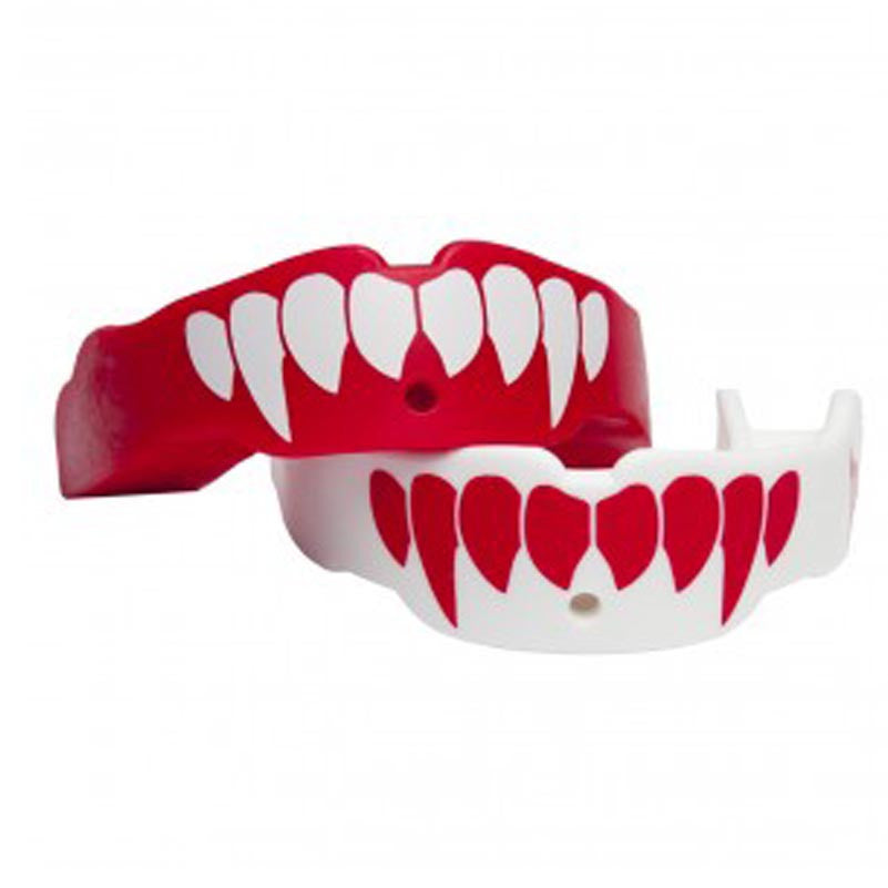 TAPOUT MOUTHGUARD ADULT TWO PACK FANG WHITE & RED