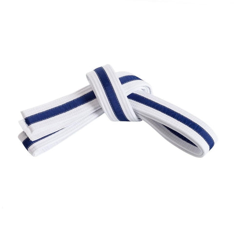 White Belt with Blue Stripe