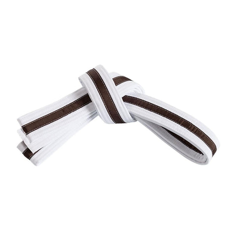 White Belt with Brown Stripe