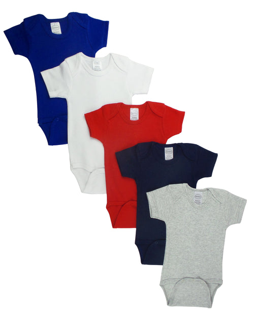Bambini Red Bodysuit Onezies (Pack of 5)