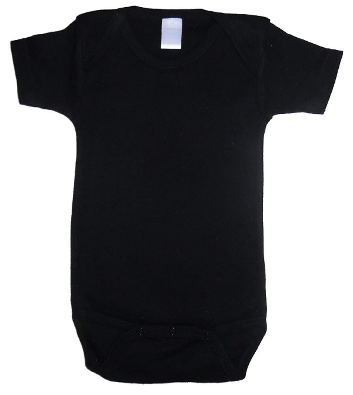 Black Interlock Short Sleeve Onezies