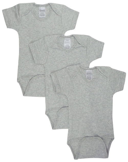 Bambini Grey Bodysuit Onezies (Pack of 3)
