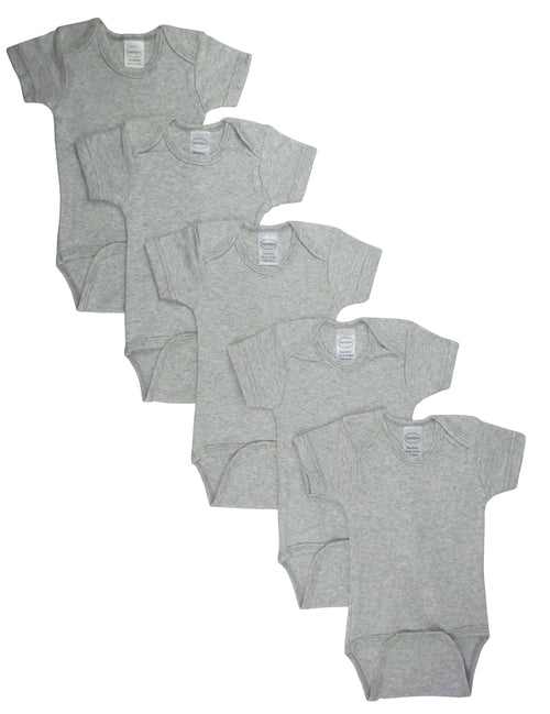 Bambini Grey Bodysuit Onezies (Pack of 5)