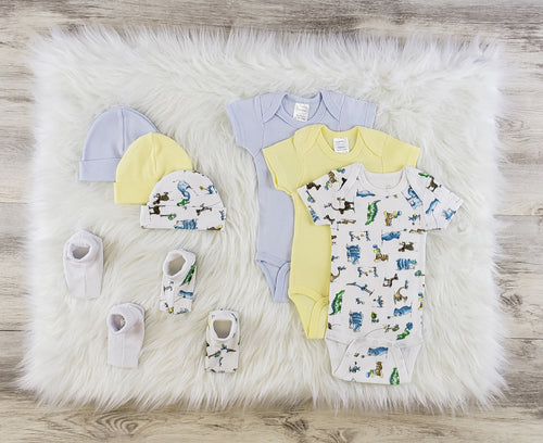 Bambini 8 Pc Layette Baby Clothes Set