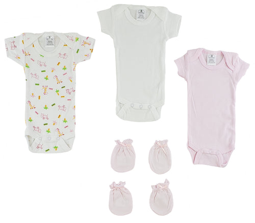 Preemie Onezies and Mittens - 2 Pc Set