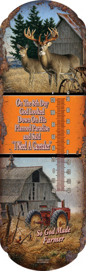 """God Made The Farmer"" Thermometer"