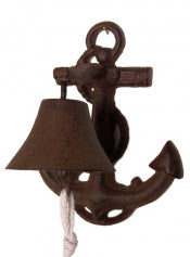 Cast Iron Bell Boat Anchor Rust