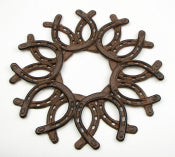 Cast Iron Horseshoe Wreath Seconds