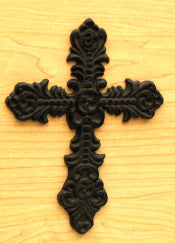 Fleur De Lis Cast Iron Cross 16 Pieces