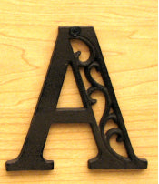 Cast Iron Letter A Set of 10