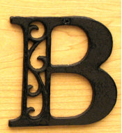Cast Iron Letter B Set of 10