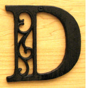 Cast Iron Letter D Set of 10 Bulk