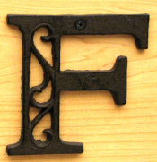 Cast Iron Letter F Set of 10 Bulk