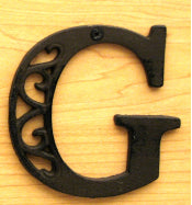 Cast Iron Letter G Set of 10 Bulk