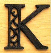 Cast Iron Letter K Set of 10 Bulk