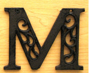 Cast Iron Letter M Set of 10 Bulk