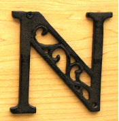 Cast Iron Letter N Set of 10 Bulk
