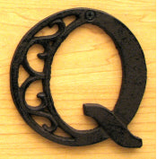 Cast Iron Letter Q Set of 10 Bulk