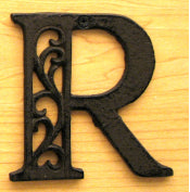 Cast Iron Letter R Set of 10 Bulk