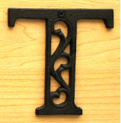 Cast Iron Letter T Set of 10 Bulk