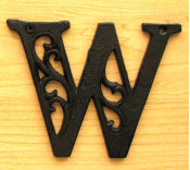 Cast Iron Letter W Set of 10 Bulk