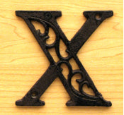 Cast Iron Letter X Set of 10 Bulk