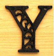 Cast Iron Letter Y Set of 10 Bulk
