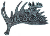 Cast Iron Moose Welcome