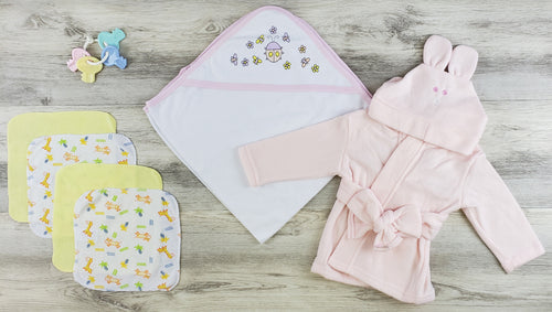 Bambini Hooded Towel, Wash Coths and Robe