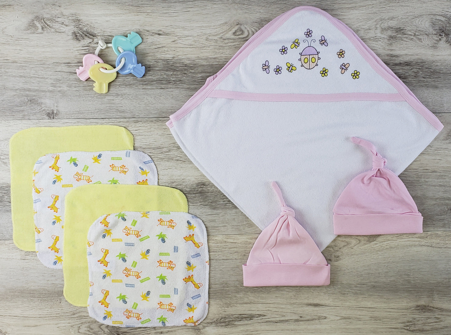 Bambini Hooded Towel, Hats and Wash Coths