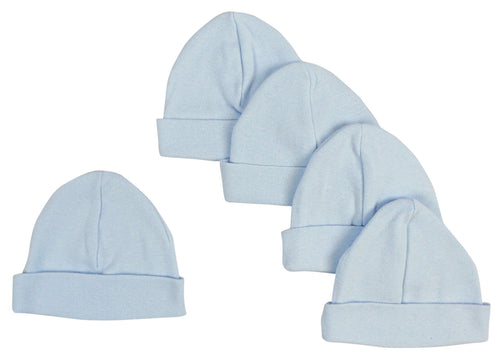 Bambini Blue Baby Cap (Pack of 5)