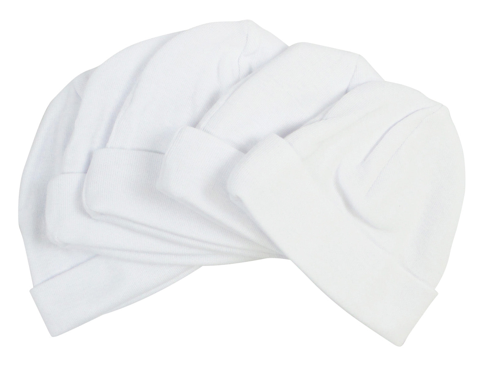 Bambini White Baby Cap (Pack of 5)
