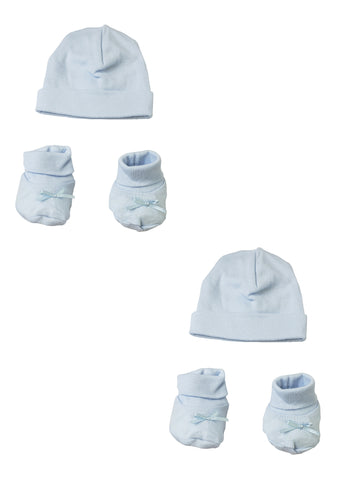 Blue Knotted Baby Cap