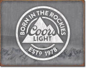 COORS LIGHT Born in the Rockies