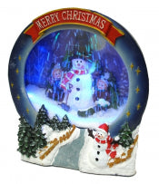 Christmas Musical Snowing Frame