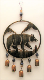 Bear Cut Out Wind Chime