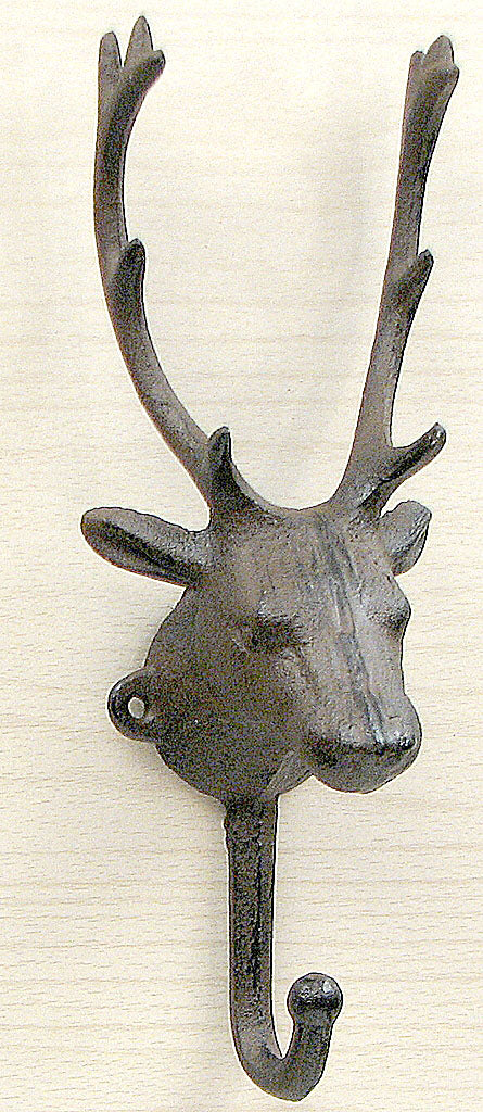 Cast Iron Elk Single Hook