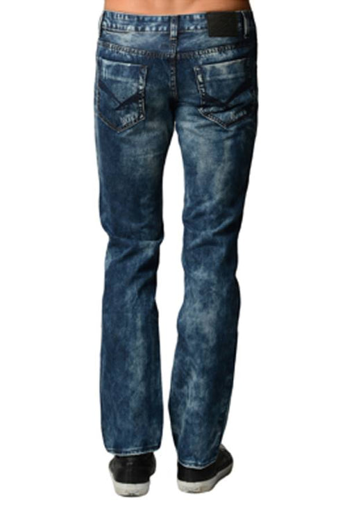 Blue Acid Wash Denim Jeans - Home Goods Galore