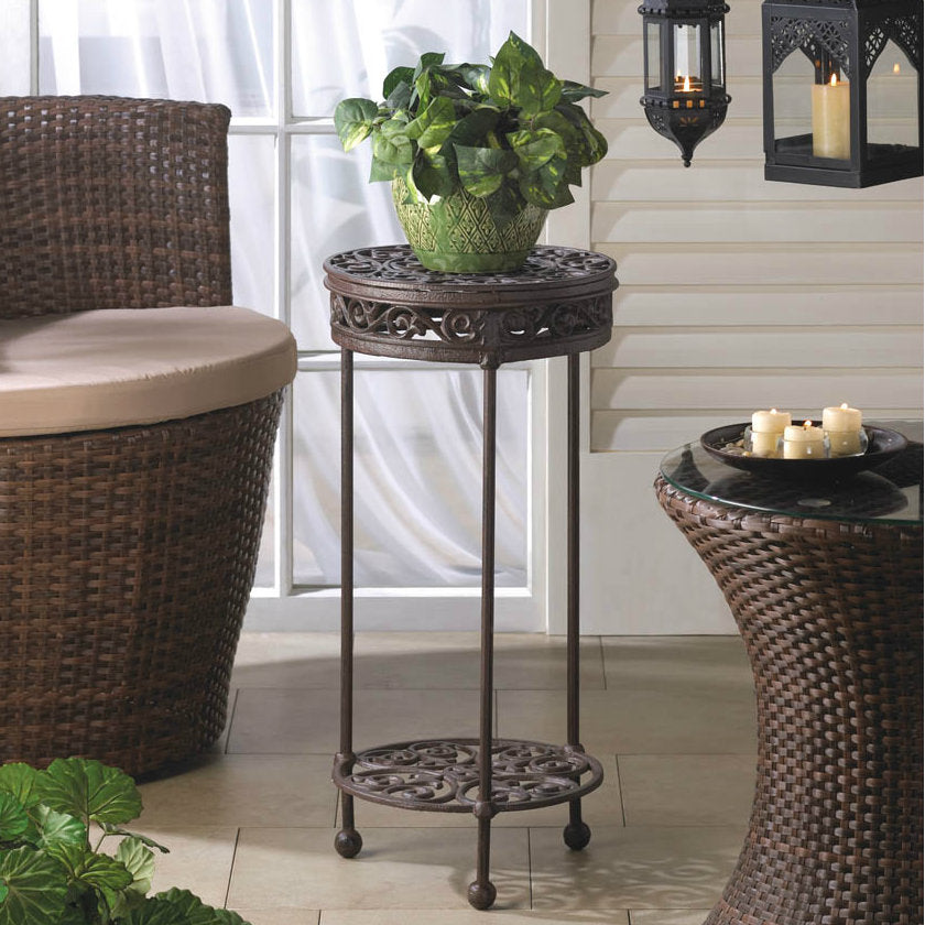 Round Cast Iron Plant Stand