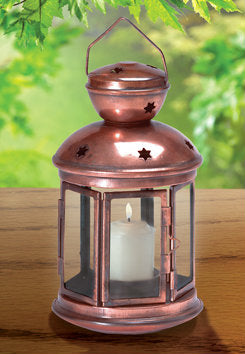 Star Cutout Candle Lantern - Bronze