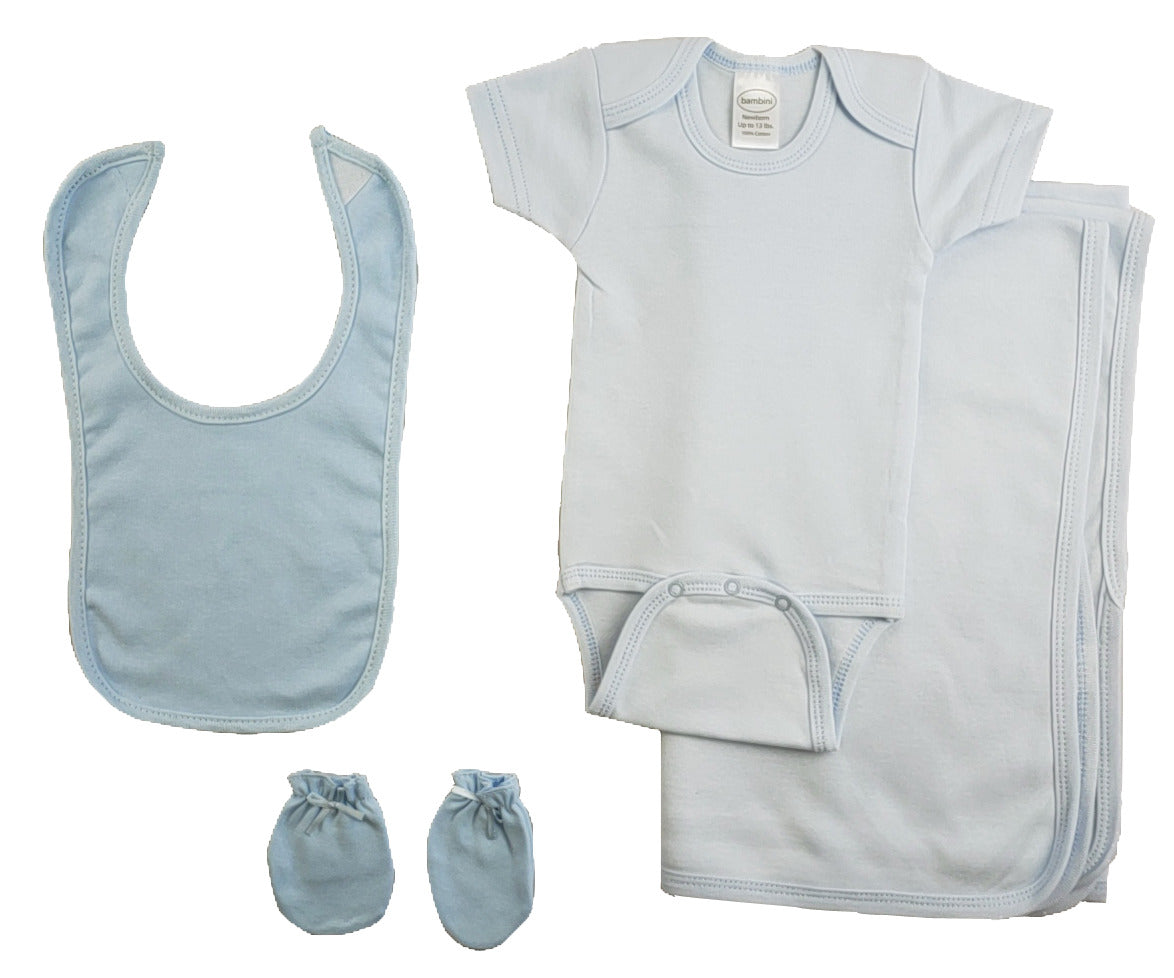 Blue 4 Piece Baby Clothes Set