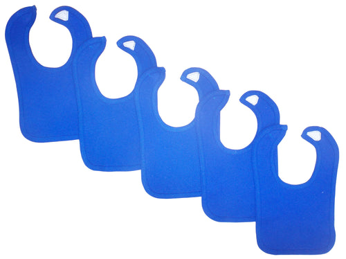 Bambini Blue Baby Bibs (Pack of 5)