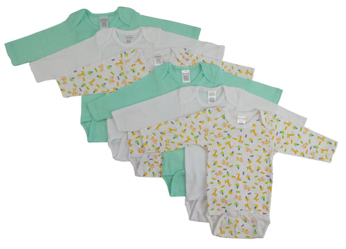 Bambini Boys Longsleeve Printed Onezie Variety 6 Pack