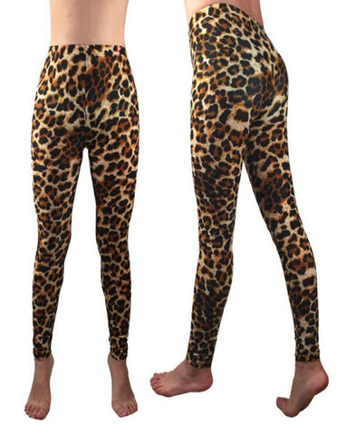 Woman' s Leopard Print ankle length leggings