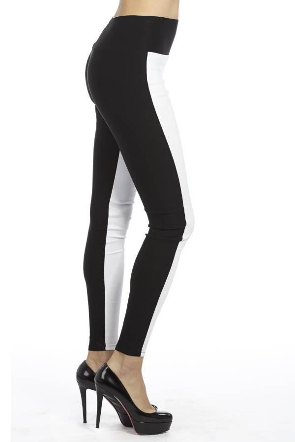 Black And White of High Waisted Yoga Jeggings - Home Goods Galore
