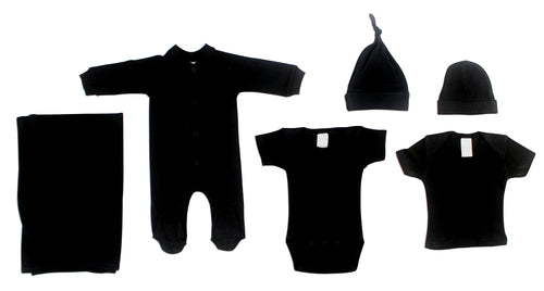 Bambini Black 6 Piece Layette Set